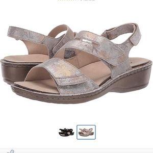 Aravon Cambridge 3 Strap Wedge Comfort Sandals NEW